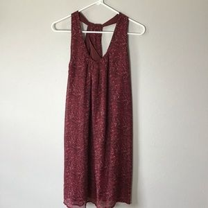 Converse 🌸 maroon print dress small